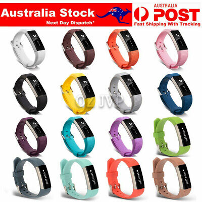 AU4.55 • Buy Fitbit Alta / Alta HR Replacement Band Silicone Wrist Watch Band Secure Buckle