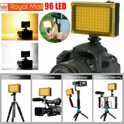 DSLR Camera Camcorder 96LEDs Video Light Lamp Lighting Panel For Canon Nikon NEW • 12.89£