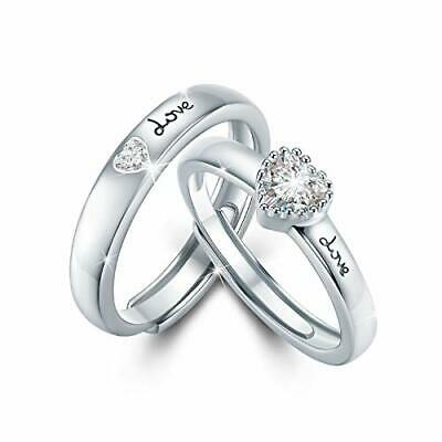 £39.31 • Buy Couple Ring For Lovers 925 Sterling Silver Eternity Rings For Women Promise