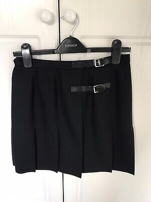 £20 • Buy Brand New Topshop Boutique Black Wool Mini Skirt Size 10