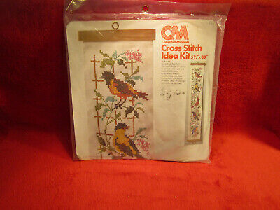 Song Birds Bell Pull Cross Sitch Kit Vintage  • 8.68£