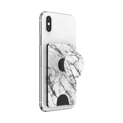AU39.95 • Buy PopSockets PopWallet+ Card Holder For Phone - Dove White Marble