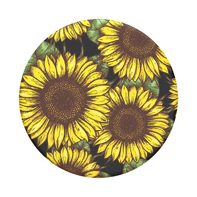 AU14.95 • Buy PopSockets PopGrip: Swappable Grip For Phones & Tablets -Sunflower Power