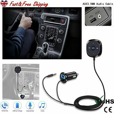 £11.99 • Buy Wireless Bluetooth Handsfree Car Kit FM Transmitter MP3 Player USB Charger AUX