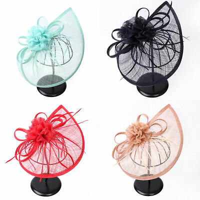 Feathers Fascinator Headband Hair Clip Hat Wedding Ladies Day Teardrop Aliceband • 4.59£