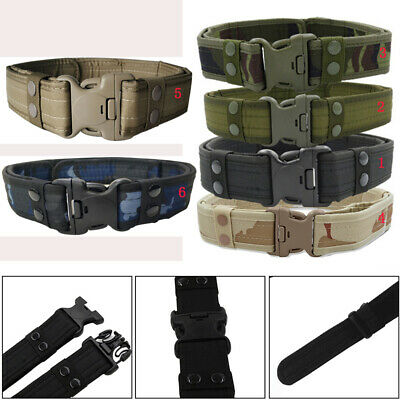 £6.10 • Buy Quick Release Buckle Military Trouser Waist BELT Army Tactical Canvas Webbing