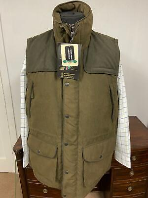 £30 • Buy Country Padded Waistcoat Size UK Small Brown Gilet Vest