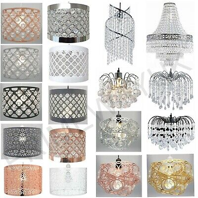 £16.90 • Buy Modern Chandelier Light Shades Acrylic Crystal Droplet Ceiling Pendant Lampshade