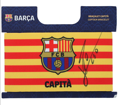 AU1139 • Buy Lionel Messi Barcelona Signed Captain's Arm Band