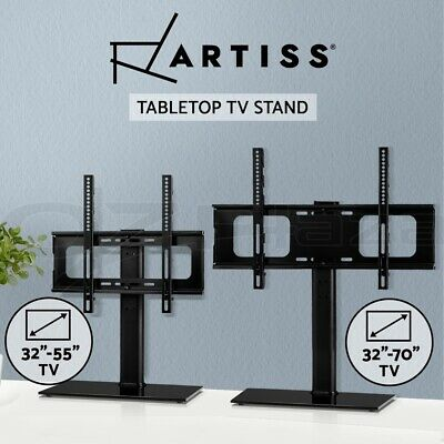 AU59.95 • Buy Artiss TV Stand Bracket Mount Table Top Desktop 32 To 70 Inch Monitor LED LCD