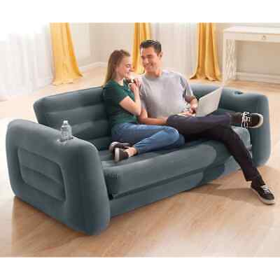 £105.99 • Buy Intex Pull-Out Chair 203cm Dark Grey Convertible Relaxing Lounge Sofa Bed