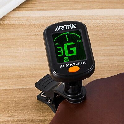 AU10.99 • Buy Digital Chromatic LCD Clip-On Electric Tuner For Bass Guitar Ukulele Violin TP
