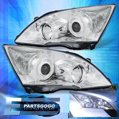 $443.99 • Buy Chrome Projector Headlights Lamps For 2007-2011 Honda Cr-V Clear Side Reflectors