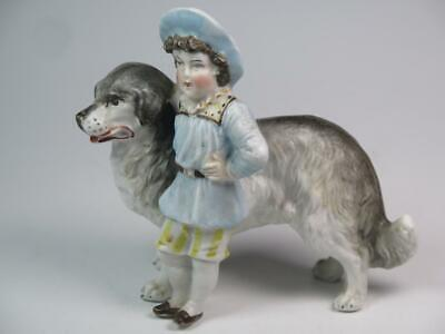 £19.99 • Buy STRIKING BISQUE FIGURINE Young Shepherd Boy With Border Collie