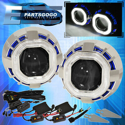 $ CDN106.33 • Buy For Nissan Ccfl Halo Ring Projector Headlight Bi Xenon Blue White Hid 6000K