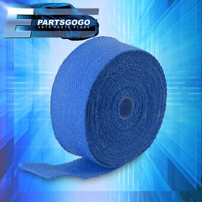 $ CDN21.23 • Buy 30FT X 2  X 1.5mm Blue High Temperature Exhaust Heat Wrap Kit Thermo Shield Pipe