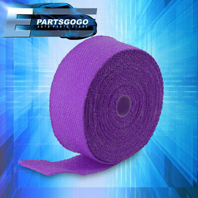 $16.99 • Buy 30FT X 2  X 1.5mm Purple High Temp Heat Wrap Thermo Shield Exhaust Header Piping
