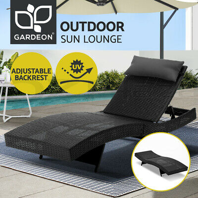 AU159.90 • Buy Gardeon Sun Lounge Setting Outdoor Furniture Wicker Lounger Day Bed Rattan Patio