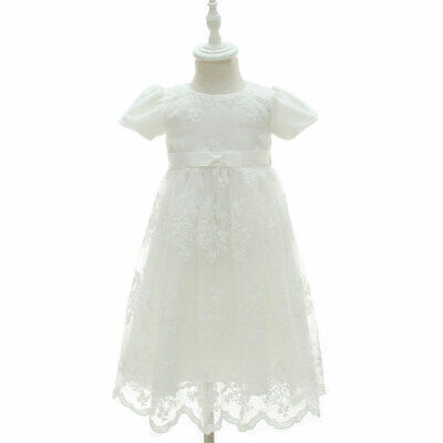 £22.99 • Buy Traditional Baby Christening Gown Newborn Girls Long Lace Party Dress