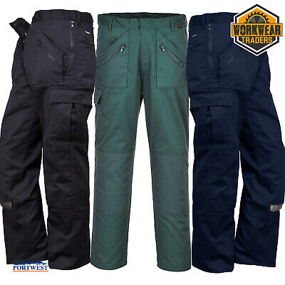 £11.95 • Buy PORTWEST Classic Action Trousers Work Wear Garden Zip Pockets Choice Of Colours