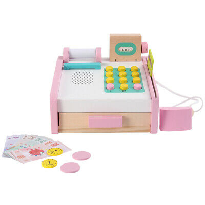 £11.59 • Buy New Wooden Toy Shop Till Cash Register Toy ,Play Money Credit Cards  Role Play