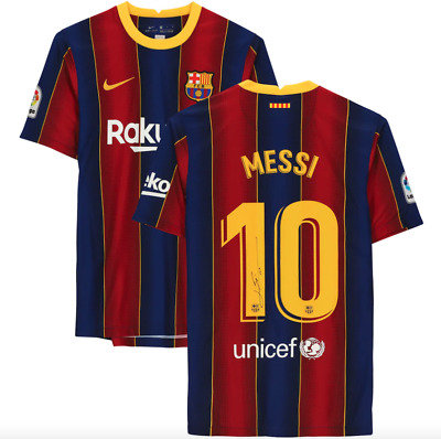 AU1429 • Buy Lionel Messi Barcelona Signed 2020-2021 Home Jersey - Officially Licensed