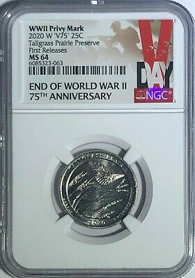 $ CDN42.32 • Buy 2020 W Kansas Tallgrass Preserve Ngc Ms64 First Releases V75 Privy Quarter Vlb