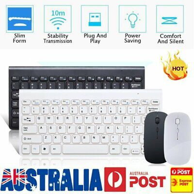 AU21.95 • Buy Wireless Gaming Keyboard And Mouse Combo Cordless Sets For PC Laptop Win7/8/10