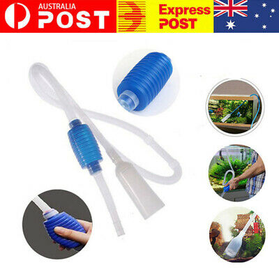 AU8.80 • Buy Aquarium Fish Tank Water Filter Gravel Vacuum Cleaning Cleaner Siphon Pump