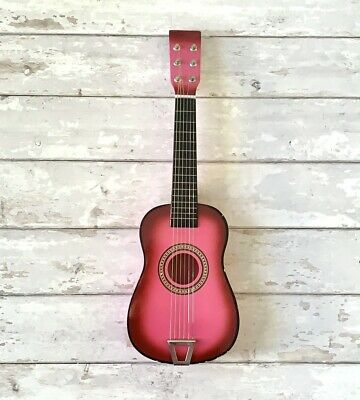 Childrens Pink Toy Guitar 6 String 23in Long  • 32.56£