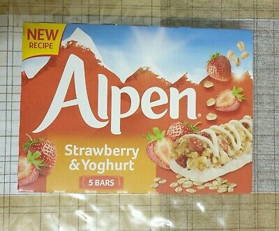 £3.99 • Buy Alpen Strawberry And Yoghurt Cereal Bars 2pack =10
