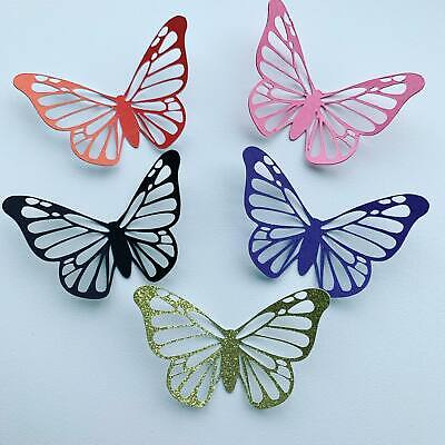 £3.50 • Buy Cute Glitter Butterfly Cupcake Toppers - Mothers Day- 6 Pack - Choice Of Colours