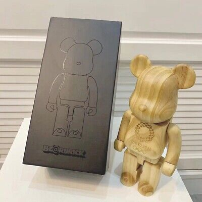 $499.99 • Buy Bear Brick 400% Wood Tokyo Street Art Style 2021 Action Figure Toys Bearbrick