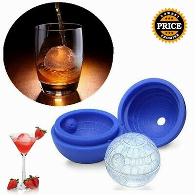 3D Star Wars Ice Cube Round Ball Mould Tray Desert Sphere Death Star Party Bar> • 3.56£