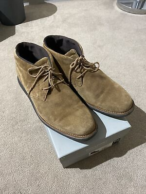 Mens Rockport TMSD Chukka CH1871 Tan Suede Lace Up Shoes Ankle Boots UK 10 • 45£