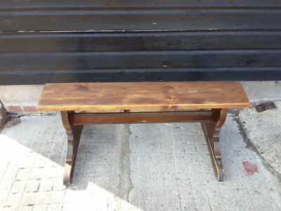 £199 • Buy Vintage Retro Antique Mid Century Kitchen Dining Wooden Seat Bench Ercol Style