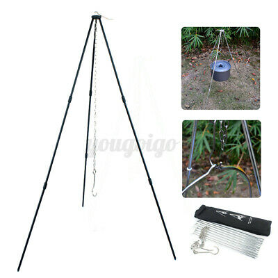 £13.15 • Buy Outdoor Camping Campfire Cooking Tripod 80CM Camping Equipment Picnic Gril