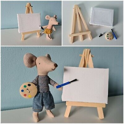 £6.90 • Buy Paint Brush Canvas Set FITS Maileg Little Big Sister Brother MOUSE NOT INCLUDED