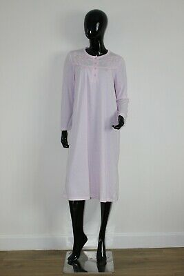 Ladies La Marquise Classic Pastel Long Sleeve Nightdress • 15£