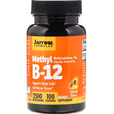 2 X Jarrow Formulas Methyl B-12 2500 Mcg - 100 Lozenges • 41.99£