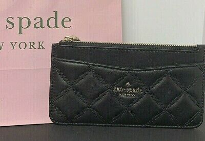$ CDN75.74 • Buy Kate Spade Large Slim Card Holder Wallet Natalia Black Quilted Leather New