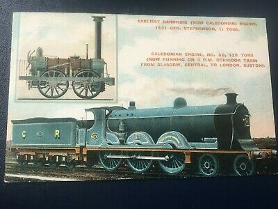 CALEDONIAN RAILWAY OFFICIAL (CR-004-1): 2 X ENGINES - NICE COLOURED POSTCARD! • 3.99£
