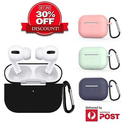 AU5.49 • Buy For Apple AirPods Pro Silicone Case Slim Skin LED Visible AntiLost Shockproof