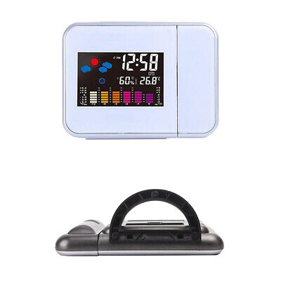 AU18.79 • Buy Digital LCD Time Projector Snooze Alarm Clock Temperature Weather Humidity