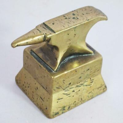 $ CDN105.20 • Buy VINTAGE WATCHMAKERS JEWELLERS SMALL BRASS BENCH ANVIL Antique Watch Tools