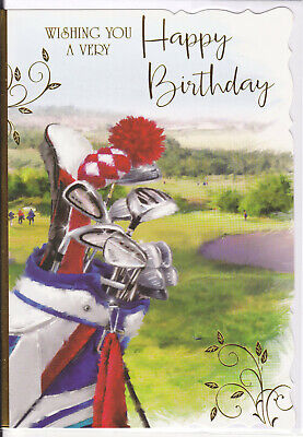 £1.75 • Buy Male Birthday Card  - Open For Any Male Birthday - Golf - BD1509