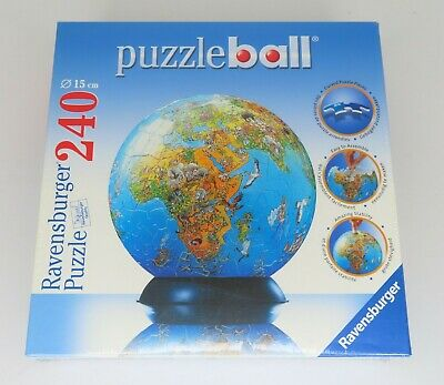 $22.50 • Buy NEW! Ravensburger Puzzle Ball World Earth 240 Plastic Pieces With Stand Sealed