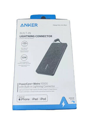 AU32.05 • Buy Anker Powercore+ Metro 10000 MAh Portable Charger W/ Built-in Lightning - VG