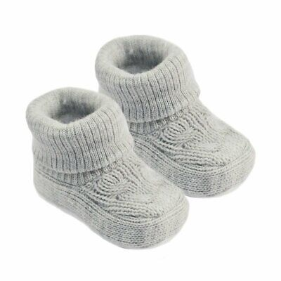 £3.99 • Buy Traditional Knitted Newborn Baby Infant Pram Bootie With Cuffs Slippers Indoors