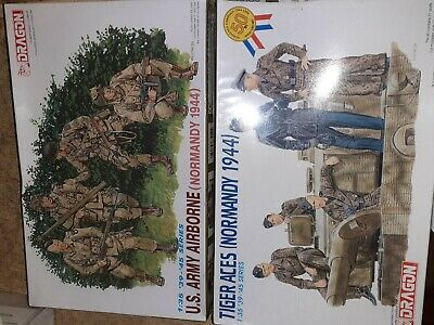 NORMANDY 1944 Tiger Aces & US ARMY Airborne DRAGON 1/35° • 30.12£